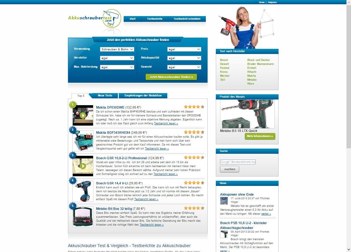 akkuschraubertest.com screenshot