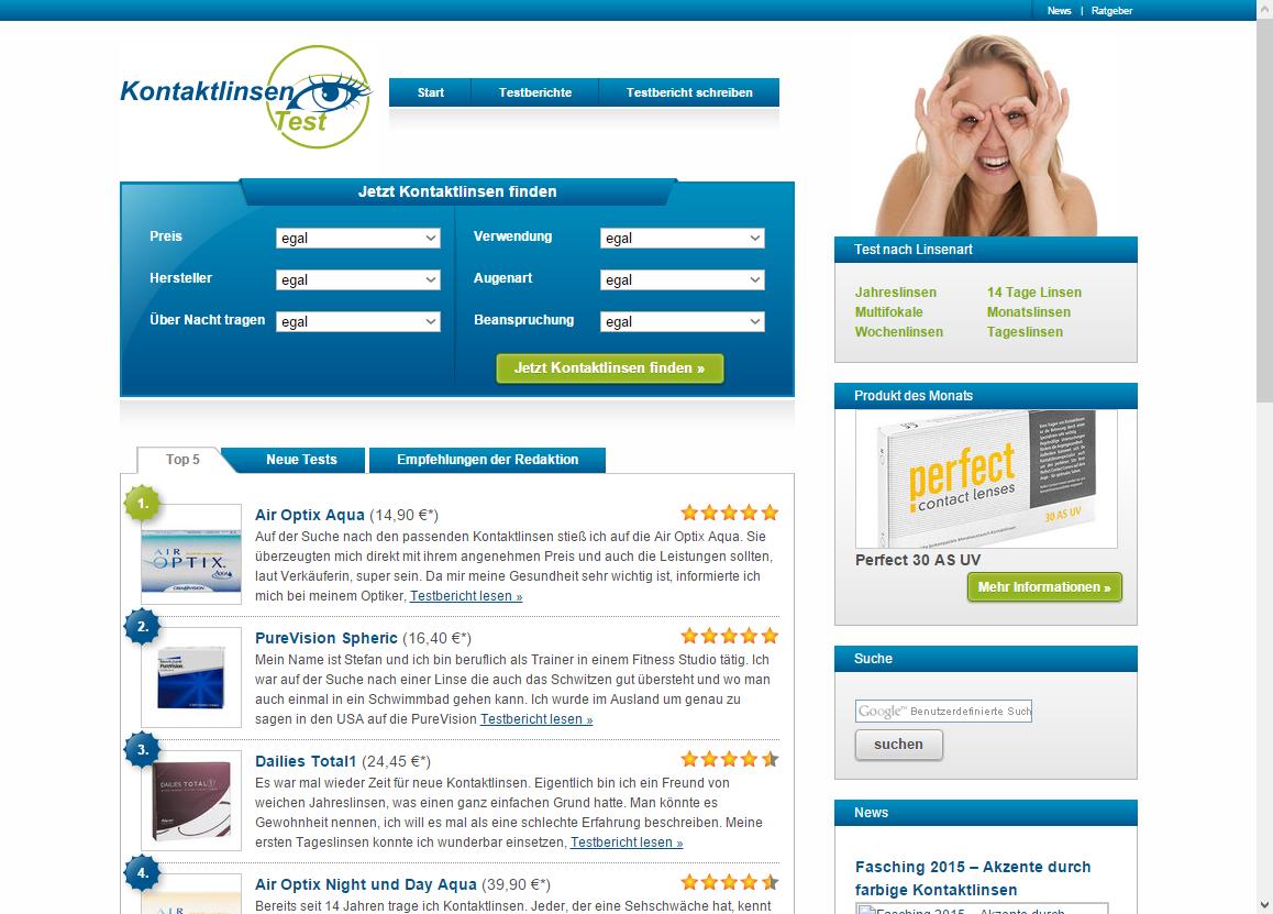 kontaktlinsentest.com screenshot