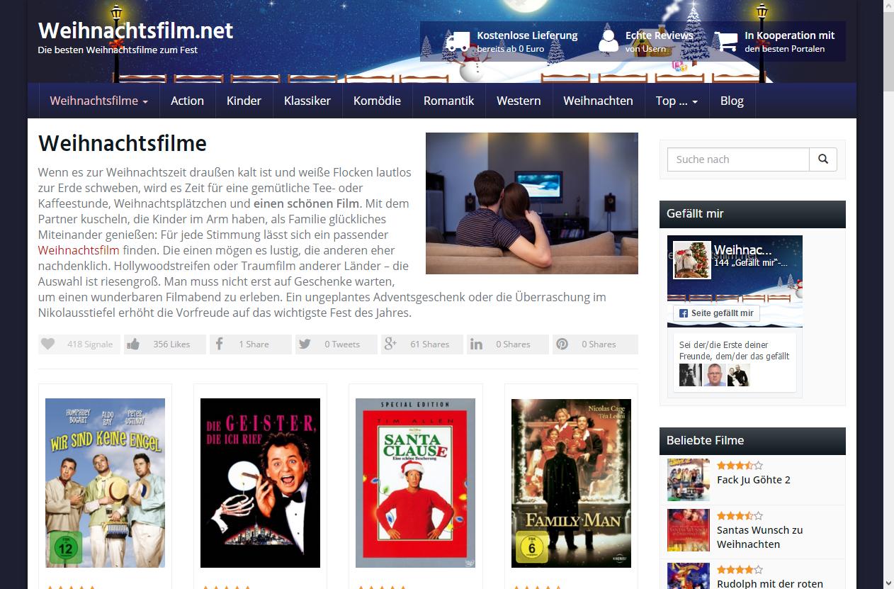 weihnachtsfilm.net screenshot